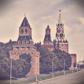 Red square in Moscow, Russian federation. Vintage retro style — Stock Photo