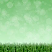 Grünes gras und abstrakte bokeh lights hintergrund — Stockfoto