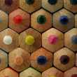 Colored pencil backside - close up — Stock Photo