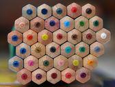 彩色的铅笔背面 — 图库照片