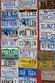 Us license plates — Stock Photo