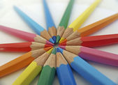 Circle of colored pencils (1) — Stock Photo