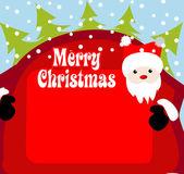 Christmas background santa claus — Stock Vector