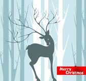 クリスマスの鹿は背景 — ストックベクタ