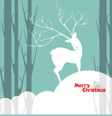 Christmas background deer — Stock Vector
