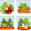 Christmas background set — Stock Vector