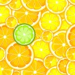 Seamless orange lemon — Stock Vector #18435993
