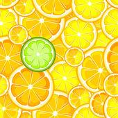 Seamless orange lemon — Stock Vector
