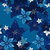 Seamless pattern flowers — Stock Vector