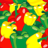 Seamless pattern ripe peppers — Stock Vector