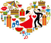Heart Valentine's Day — Stock Vector