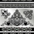 Set of vintage borders — Stock Vector