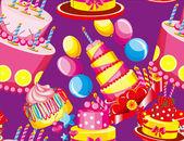 Seamless pattern festival cakes — Stock Vector