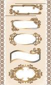 Vetor definido belos rótulos dourados — Vetor de Stock