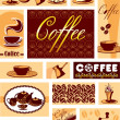 Vector set coffee design elements — Stock Vector