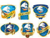 Marine emblem — Stock Vector