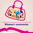 Women's accessories cosmetics set - Stock Photo