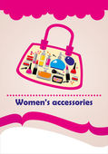 Women's accessories cosmetics set — Stock Photo