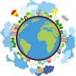 Royalty-Free Stock Vector Image: Ecological planet