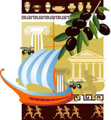Ancient Greece — Stock Vector