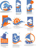 Collection of logos for the travel and tour — Stock Vector