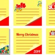 Christmas sticky note isolated on white background — Stock Vector