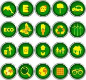 Set of environmental icons — Stock Vector