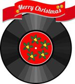 Christmas vinyl record — Stock Vector