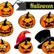 Halloween pumpkins — Stock Vector #30811101