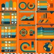 Set of infographic design templates — Stock Vector
