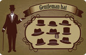 Gentleman hat — Stock Vector