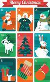 Julkort set — Stockvektor
