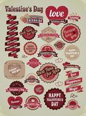 Valentines day labels, tags, decorative items — 图库矢量图片