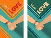 Peace Love Friendship — Stock Vector