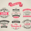Calligraphic Design Elements Valentine's Day — Vettoriale Stock