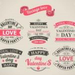 Calligraphic Design Elements Valentine's Day — Stock Vector