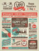 News newspaper festive Valentine's Day — Stock Vector