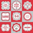Valentines day labels tags decorative items — Stock Vector