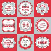 Valentines day labels tags decorative items — ストックベクタ