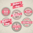 Calligraphic Design Elements mothers day — Stock Vector