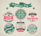Calligraphic Design Elements St. Patricks Day — Stock Vector