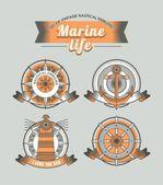 морская эмблема — Cтоковый вектор