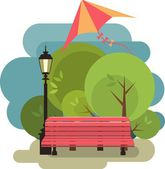 Bench for rest — Stock Vector