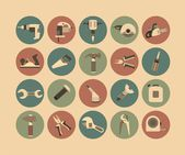 Working Tools Flat Icon Set — Stock Vector