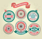 Calligraphic Design Elements of Merry Christmas — Stock Vector
