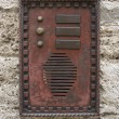Historic doorbell plate — Stock Photo #12716358