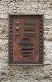 Historic doorbell plate — Stock Photo
