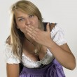 Woman in a dirndl — Stock Photo