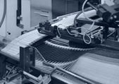 Folding machine detail — Stock Photo