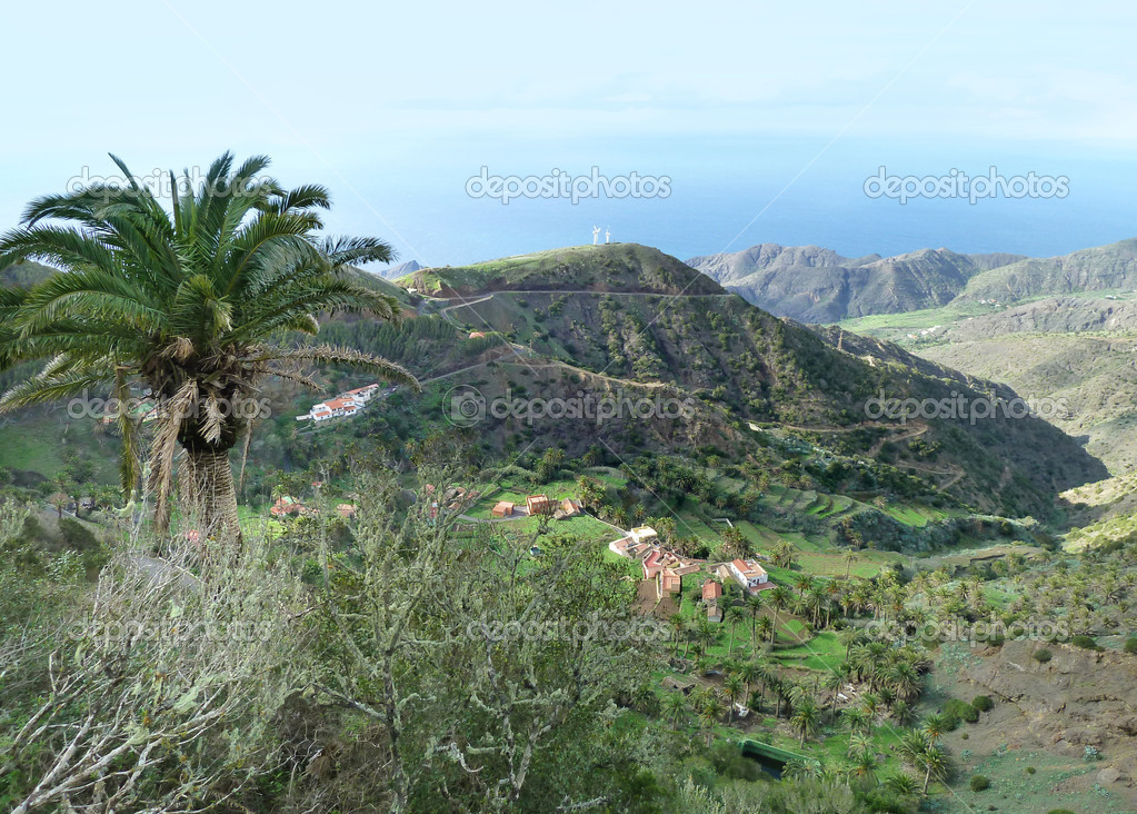 Idyllic scenery at La Gomera, one of the Canary Islands in Spain — Stock Photo #18018917